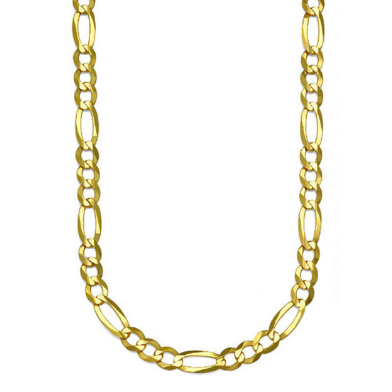 14K Gold Solid Figaro Chain Necklace