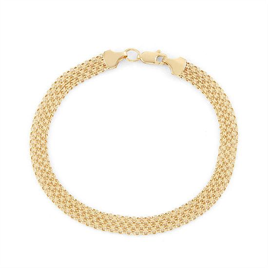 14K Gold 8 Inch Solid Link Chain Bracelet