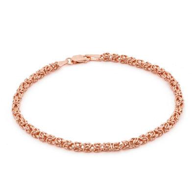 14K Rose Gold 7.25 Inch Solid Byzantine Chain Bracelet