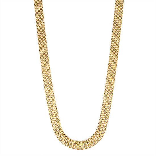 14K Gold 20 Inch Solid Link Chain Necklace