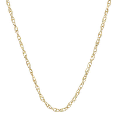 14K Gold 18 Inch Solid Link Chain Necklace