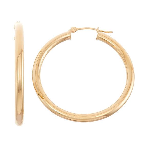 14K Gold 35.1mm Hoop Earrings