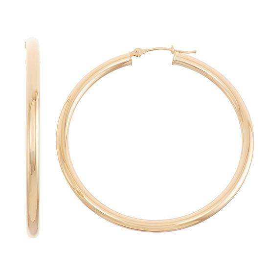 14K Gold 40.1mm Hoop Earrings