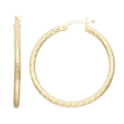 14K Gold 34.5mm Hoop Earrings