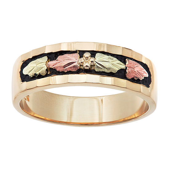 Landstroms Black Hills Gold Womens 10K Gold Wedding Band