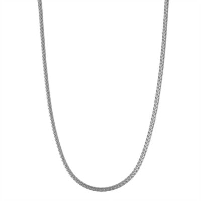 Sterling Silver 18 Inch Solid Wheat Chain Necklace