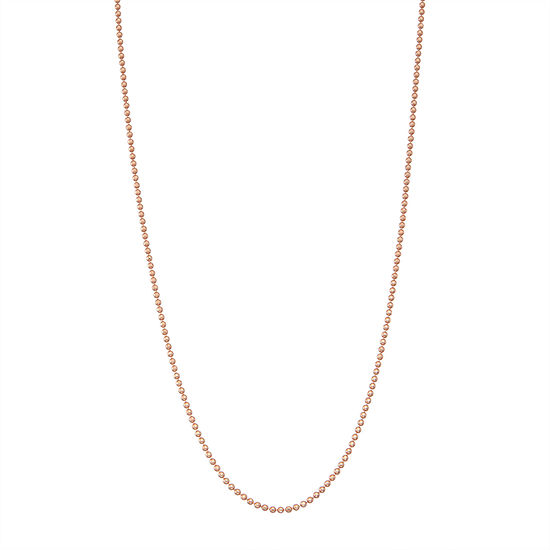 14K Rose Gold Over Silver 18 Inch Solid Cable Chain Necklace