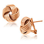 Made In Italy 14K Rose Gold Over Silver 15.5mm Stud Earrings