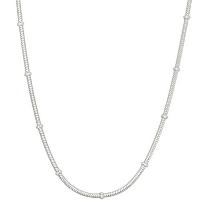 Sterling Silver 20 Inch Solid Snake Chain Necklace
