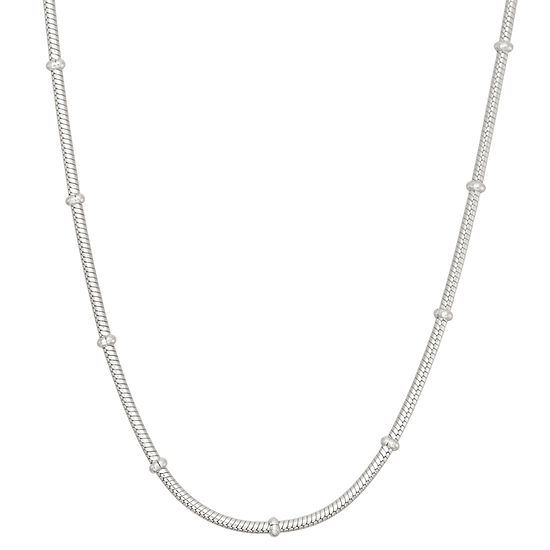 Sterling Silver 24 Inch Solid Snake Chain Necklace