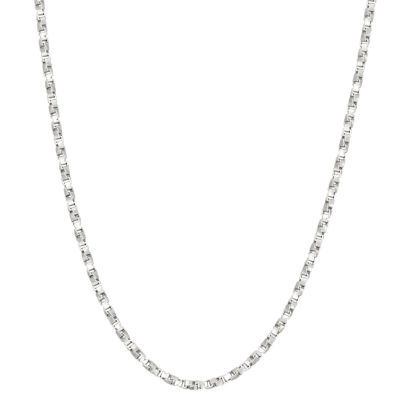 Sterling Silver 16 Inch Solid Box Chain Necklace