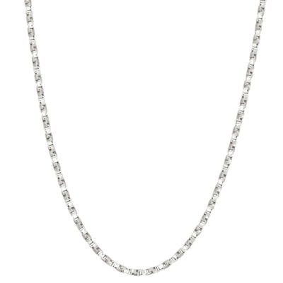 Sterling Silver 20 Inch Solid Box Chain Necklace