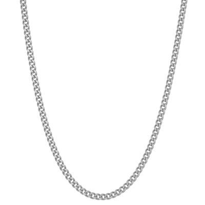 Sterling Silver 16 Inch Solid Curb Chain Necklace
