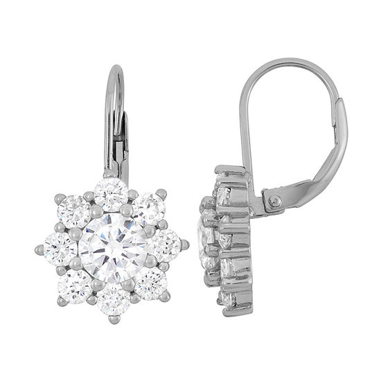 cc5691a5a 3 1/2 CT. T.W White Cubic Zirconia Sterling Silver Clip On Earrings -  JCPenney