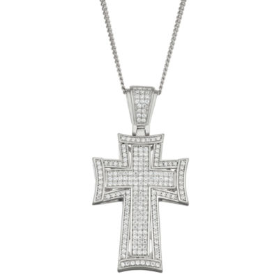 Womens 4 CT. T.W. White Cubic Zirconia Pendant Necklace