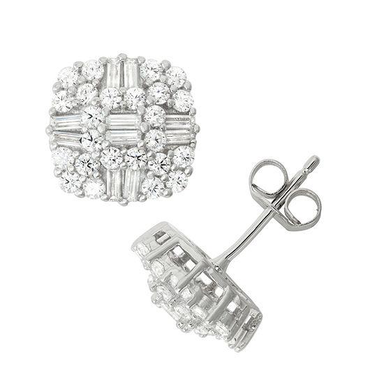 5/8 CT. T.W. White Cubic Zirconia Sterling Silver 10.5mm Stud Earrings