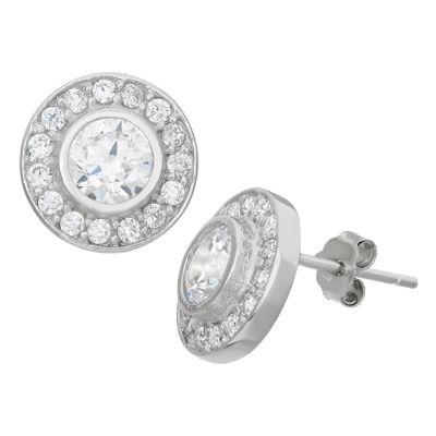 1 7/8 Ct. T.W. White Cubic Zirconia Sterling Silver 5.5mm Stud Earrings
