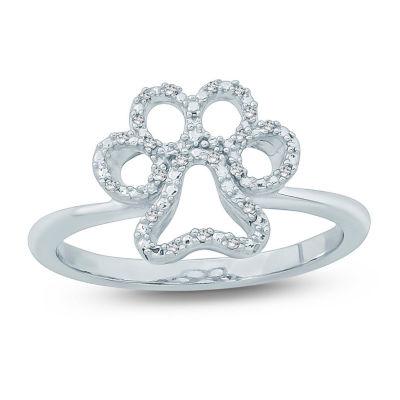 Womens Diamond Accent White Diamond Delicate Cocktail Ring