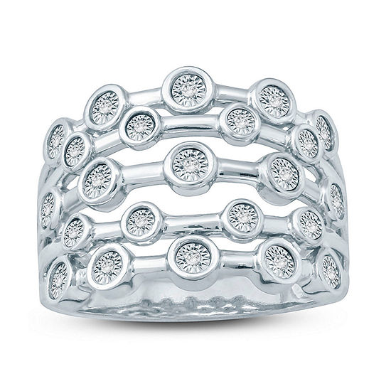 Womens 2MM 1/10 CT. T.W. White Diamond Band