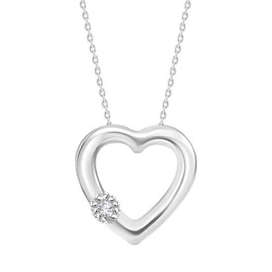 Womens diamond accent white diamond sterling silver pendant necklace womens diamond accent white diamond sterling silver pendant necklace aloadofball Image collections
