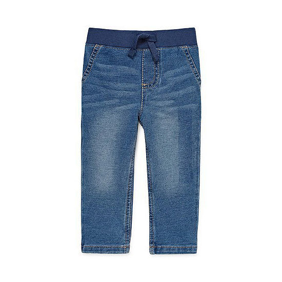 Okie Dokie Boys Straight Pull-On Pants - Baby