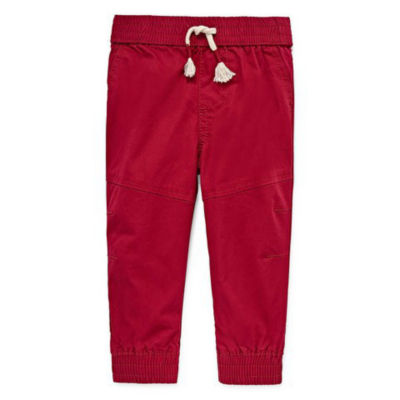 Okie Dokie Woven Twill Pull-On Jogger Pant - Baby Boy NB-24M