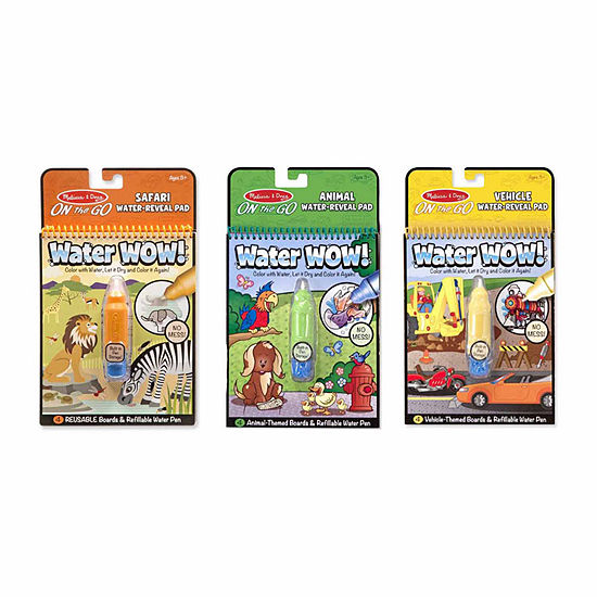 Melissa & Doug Water Wow! - On-the-Go Bundle - Vehicles, Animals and Safari