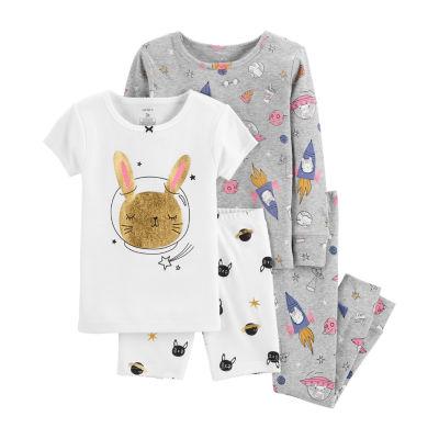 Carter's 4pc Space Bunny Pajama Set- Toddler Girl