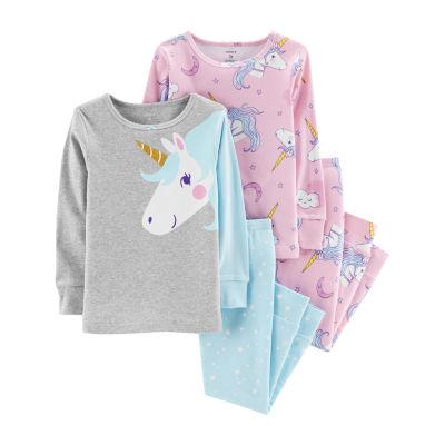 Carter's 4pc Unicorn Pajama Set - Toddler Girl