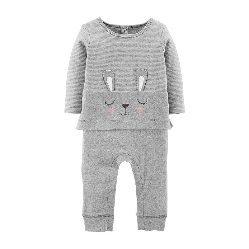 Carters 2pc Bunny Pant Set- Baby, Size 6 Months
