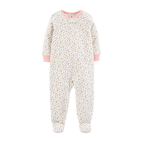 56721a455 Carters Long Sleeve One Piece Pajama Baby Girls JCPenney