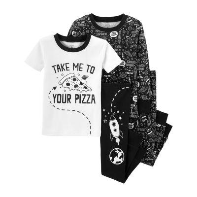 Carter's 4pc Pizza Pajama Set- Toddler Boy
