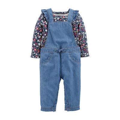Carter's 2pc Bodysuit & Overall Set- Baby Girl