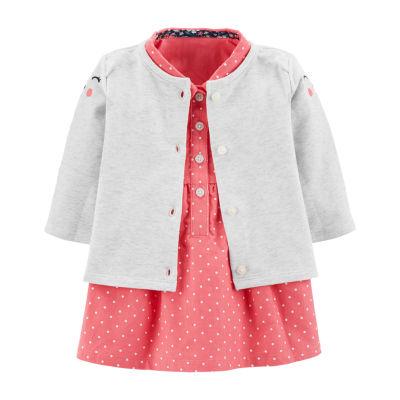 Carter's 2-Pc. Dress & Cardigan Set - Baby Girls