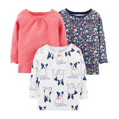 Carter's 3 pack Long Sleeve Tees - Baby Girl