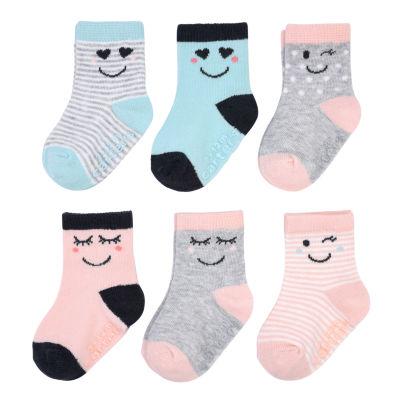 Carter's Emoji 6 Pack Crew Socks - Baby