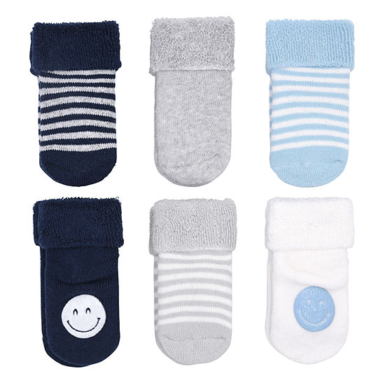 Carter's 6pk Emoji Sock 6 Pair Baby Booties-Baby