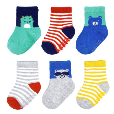 Carter's Multi Character 6 Pack Crew Sock - Baby Boy