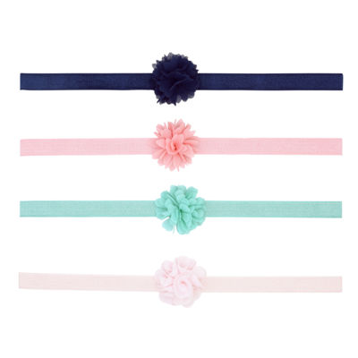 Carter's 4 Pack Mixed Hair Wrap - Baby Girl