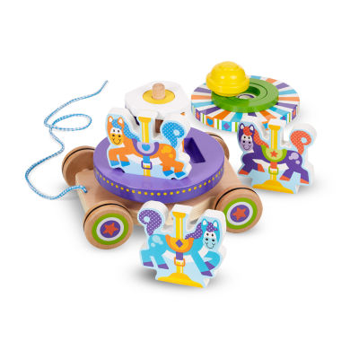 Melissa & Doug First Play Carousel Pull Toy