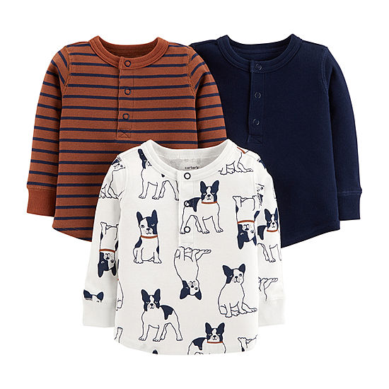 c868a6a5c Carters Long Sleeve Henley Shirt Toddler Boys JCPenney