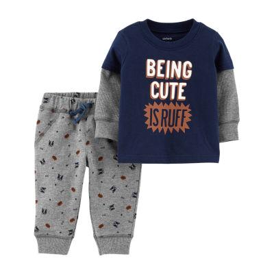 Carter's 2pc Doubler Tee & Pant Set- Baby Boy