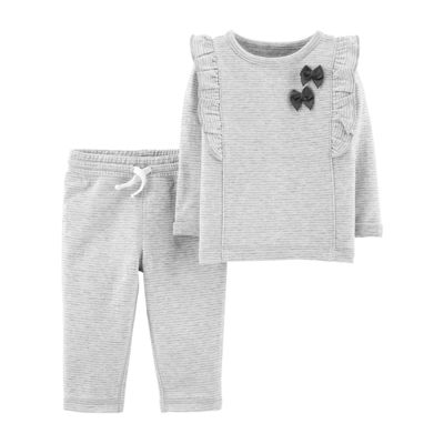Carter's 2pc Bow Top & Pant Set - Baby Girl