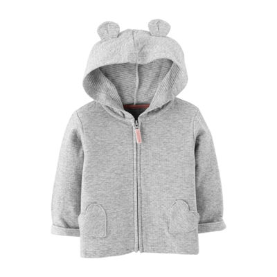 Carter's Long Sleeve Hooded Neck Cardigan Girls
