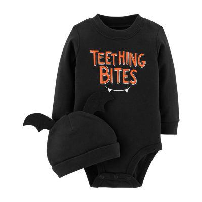 Carter's 2pc Halloween Bodysuit & Cap Set- Unisex Baby