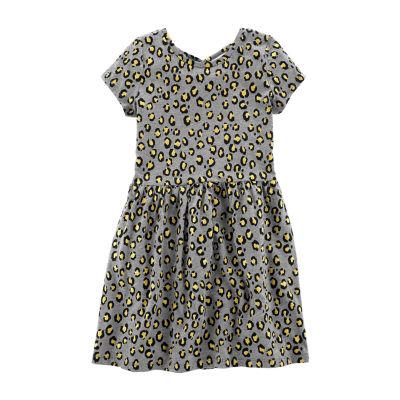 Carter's Short Sleeve Animal A-Line Dress - Girls