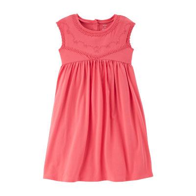 Carter's Carters Dress Short Sleeve Babydoll Dress Girls