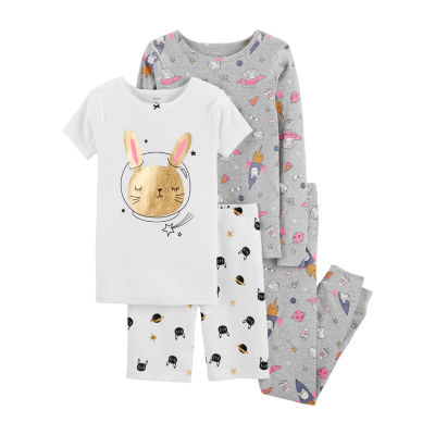 Carter's Psg Pj 4-pc. Pajama Set Girls