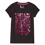 Xersion Girls V Neck Short Sleeve Graphic T-Shirt - Preschool / Big Kid