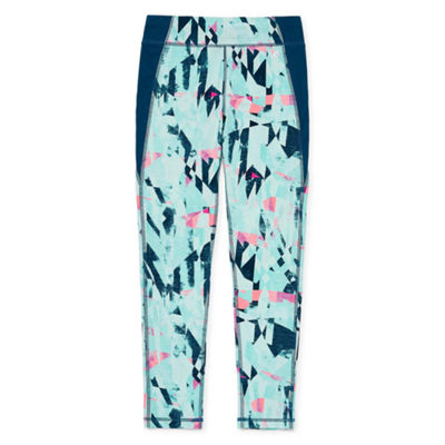 Xersion Print Mix Ankle Yoga Leggings Gilrs 4-16 and Plus